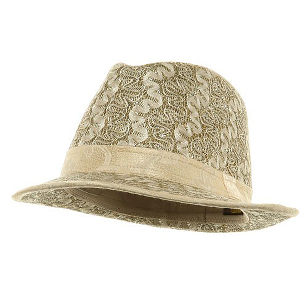 Polyester Lurex Fedora Hat / Gold - Hats and Caps Online Shop - Hip Head Gear