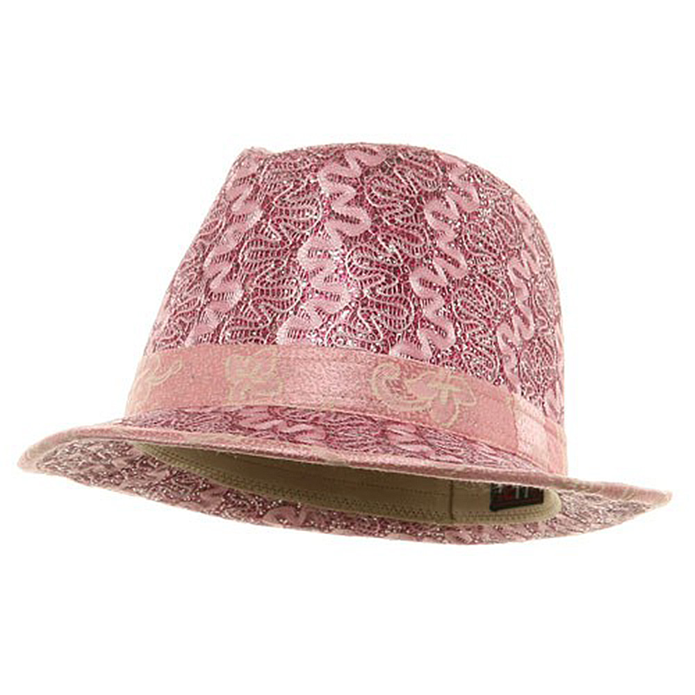Polyester Lurex Fedora Hat / Fuchsia - Hats and Caps Online Shop - Hip Head Gear