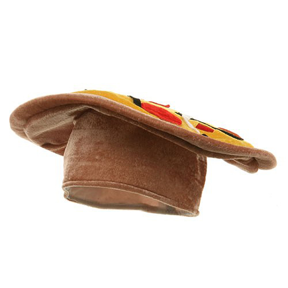 Velvet Pizza Hat - Yellow Brown - Hats and Caps Online Shop - Hip Head Gear