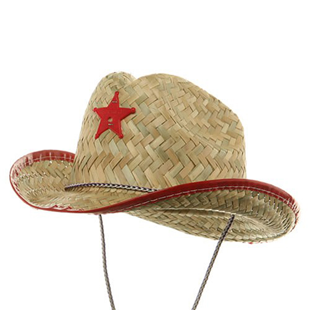 Baby Sheriff Straw Hat - Red - Hats and Caps Online Shop - Hip Head Gear