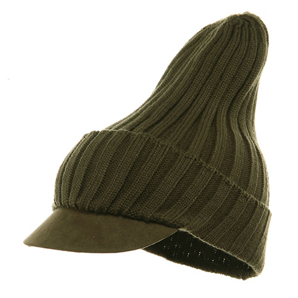 Acrylic Knit Beanie Cap-Olive - Hats and Caps Online Shop - Hip Head Gear