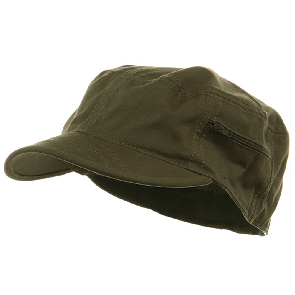 Canvas Army Fitted Cap - Olive - Hats and Caps Online Shop - Hip Head Gear