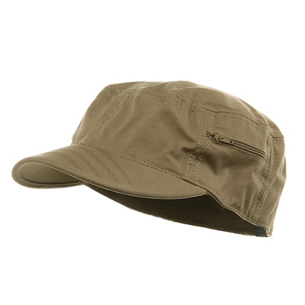 Canvas Army Fitted Cap - Khaki - Hats and Caps Online Shop - Hip Head Gear