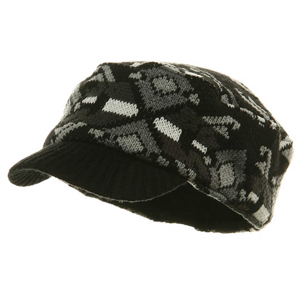 Color Knit Combat Cap - Black - Hats and Caps Online Shop - Hip Head Gear
