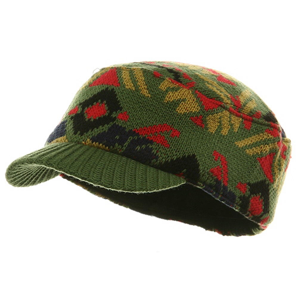 Color Knit Combat Cap - Olive - Hats and Caps Online Shop - Hip Head Gear