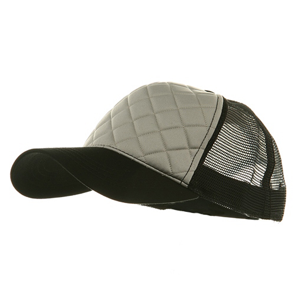 Fashion Foam Front Trucker Cap - Grey Black - Hats and Caps Online Shop - Hip Head Gear