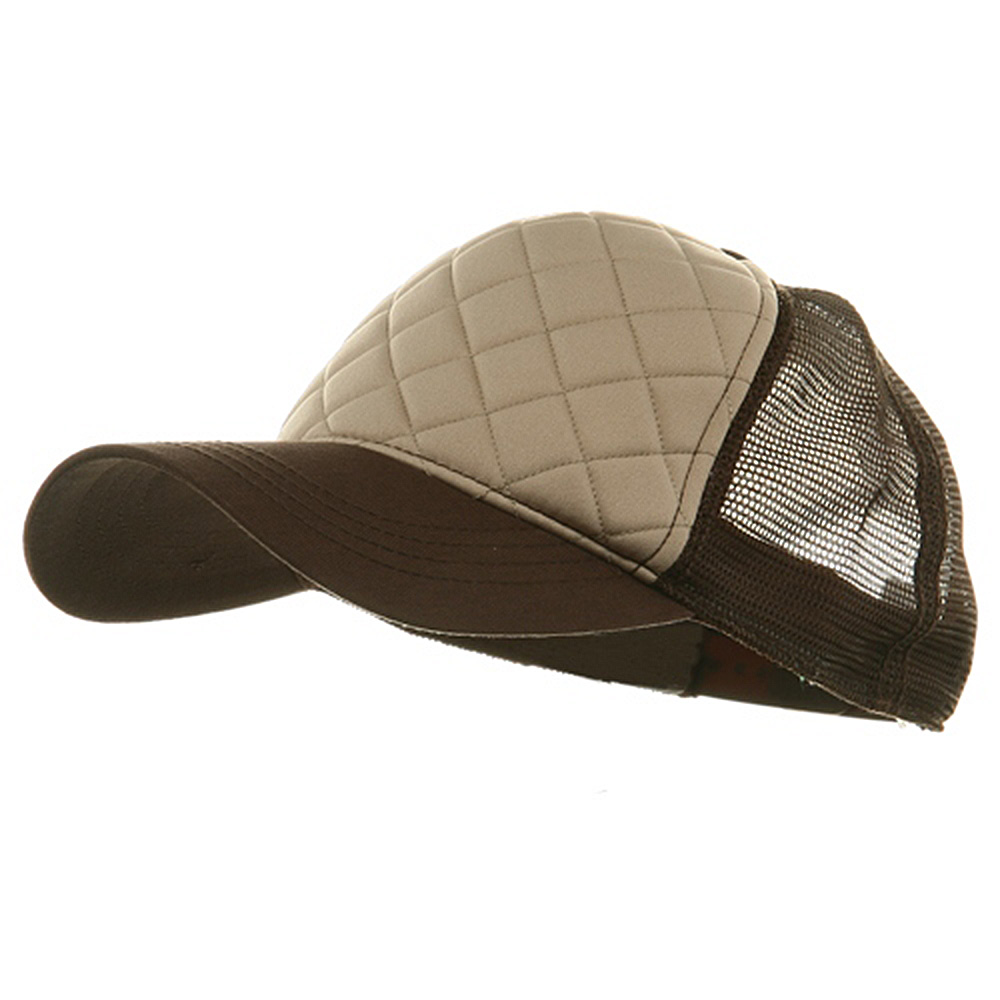 Fashion Foam Front Trucker Cap - Khaki Brown - Hats and Caps Online Shop - Hip Head Gear