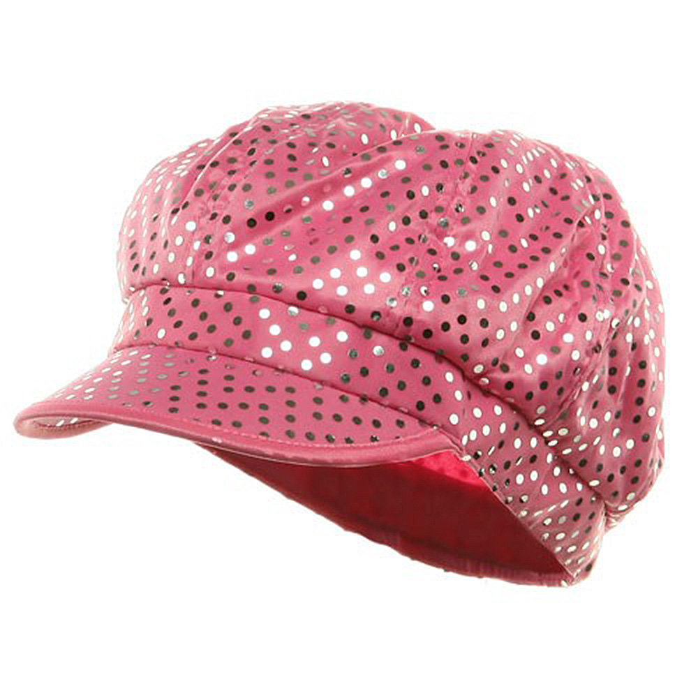 Aluminum Dots Newsboy Cap - Pink - Hats and Caps Online Shop - Hip Head Gear
