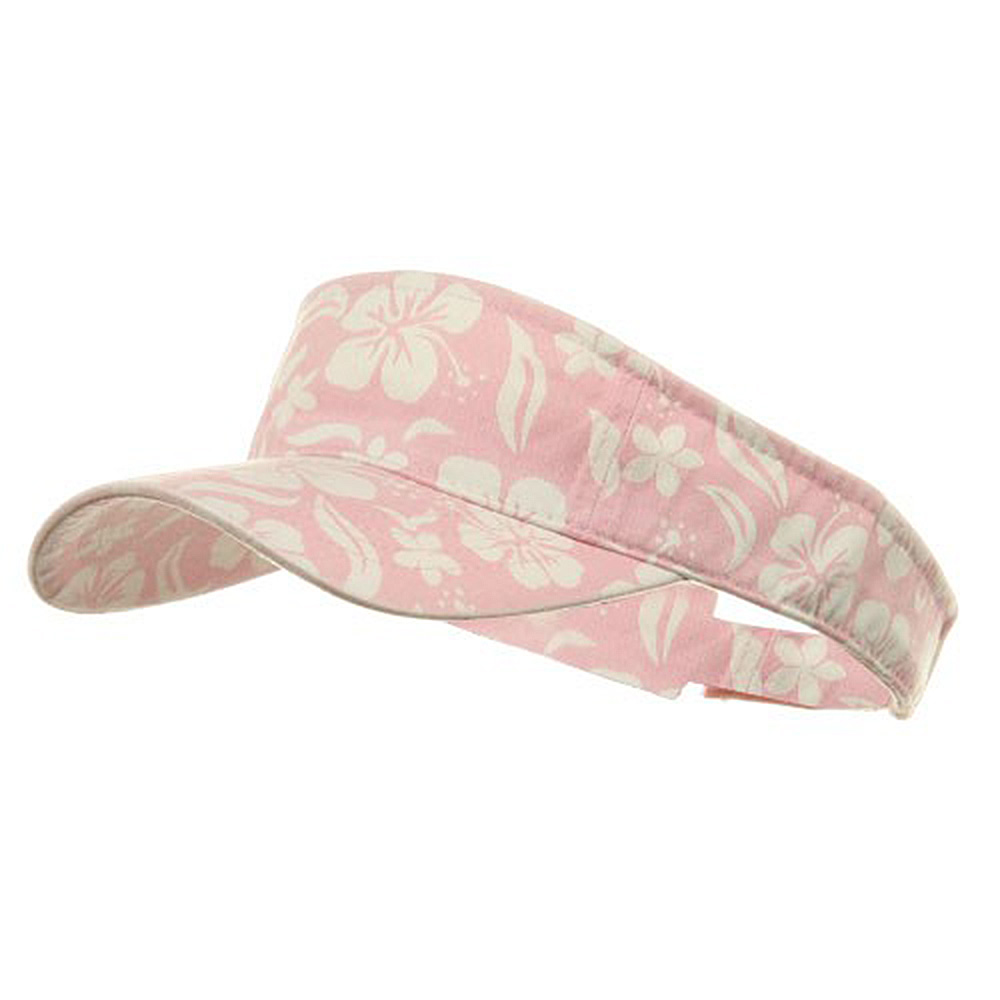 New Hawaiian Pattern Visor-Pink - Hats and Caps Online Shop - Hip Head Gear