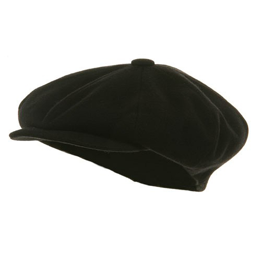Big Apple Melton Wool Cap - Black