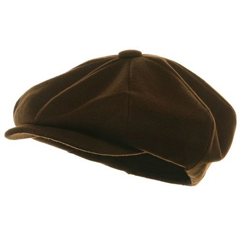 Big Apple Melton Wool Cap - Brown - Hats and Caps Online Shop - Hip Head Gear