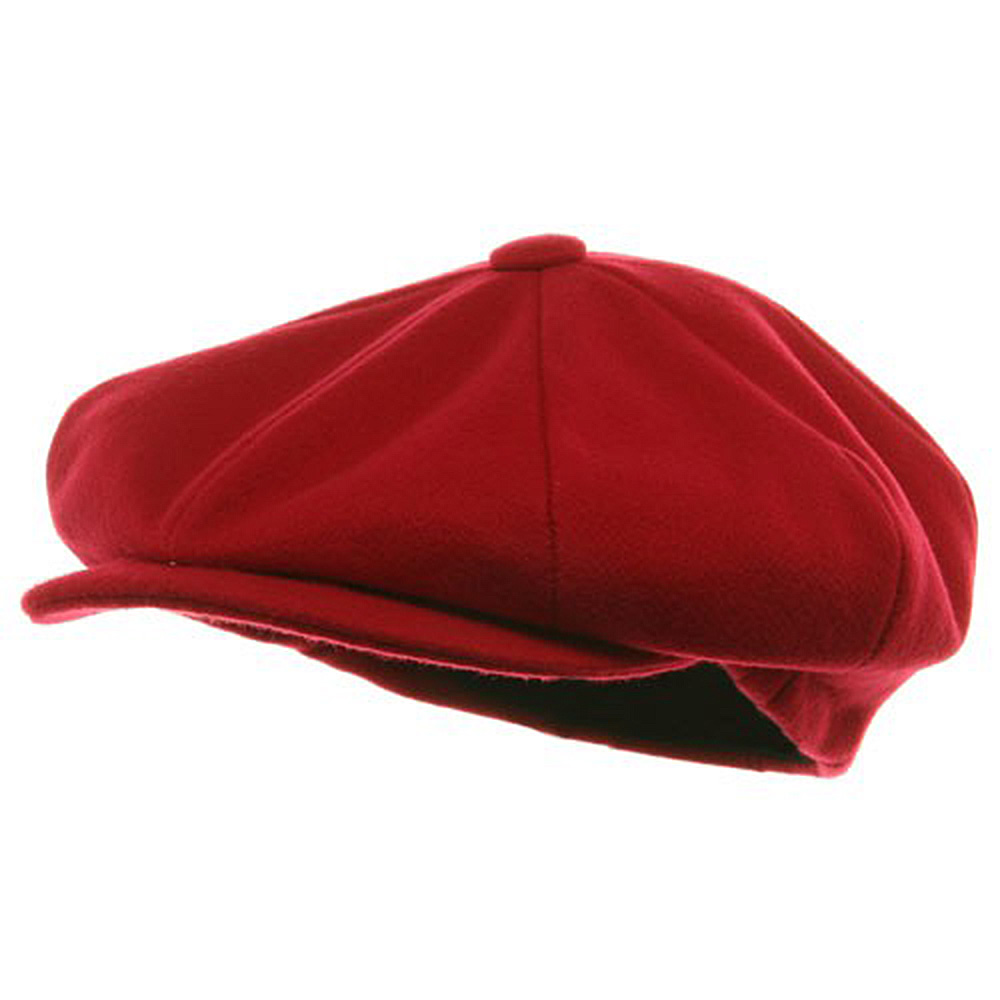 Big Apple Melton Wool Cap - Red - Hats and Caps Online Shop - Hip Head Gear