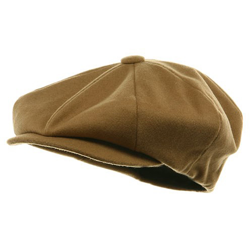 Big Apple Melton Wool Cap - Camel