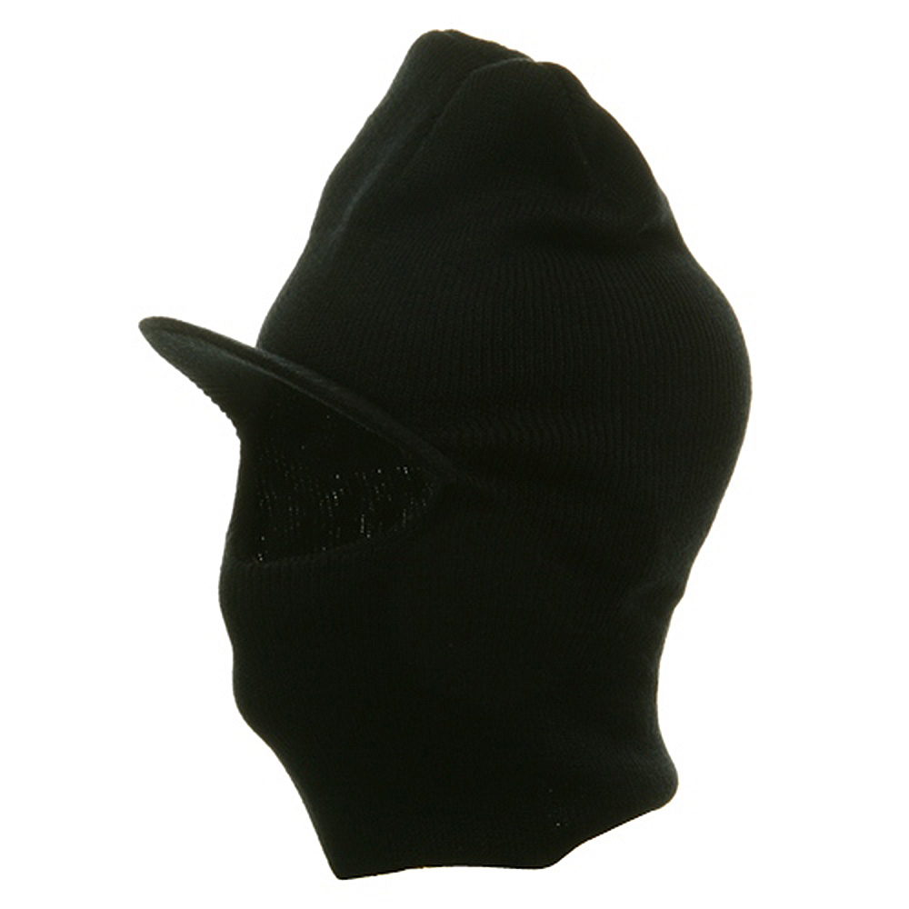 Visor One Hole Ski Mask - Black - Hats and Caps Online Shop - Hip Head Gear