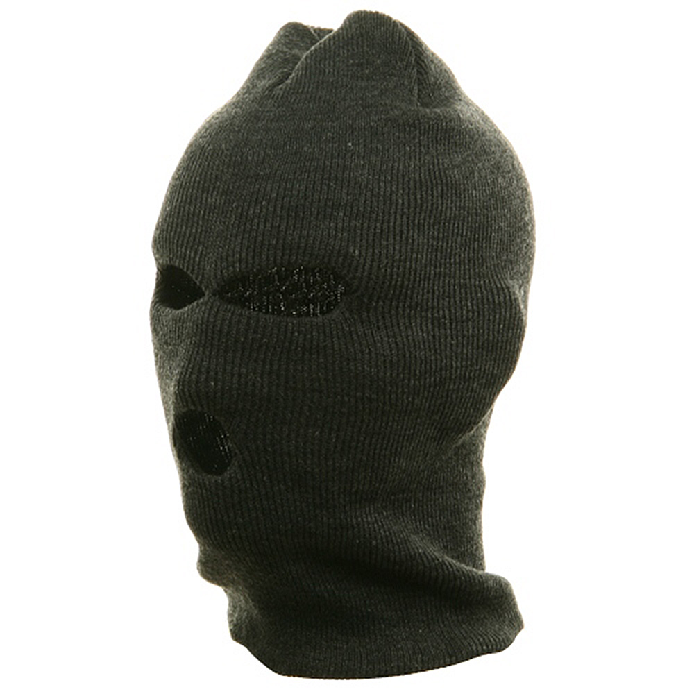 Ski Mask - Tri Hole  - Grey(2) - Hats and Caps Online Shop - Hip Head Gear
