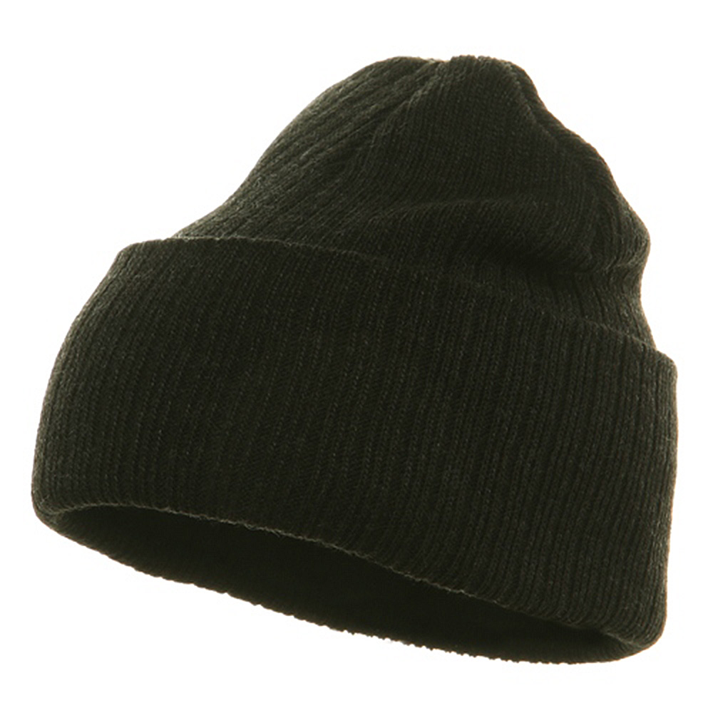 Acrylic Ribbed Cuff Beanie - Black - Hats and Caps Online Shop - Hip Head Gear