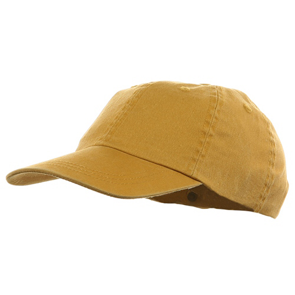 Youth Pigment Dyed Washed Cap - Mango - Hats and Caps Online Shop - Hip Head Gear