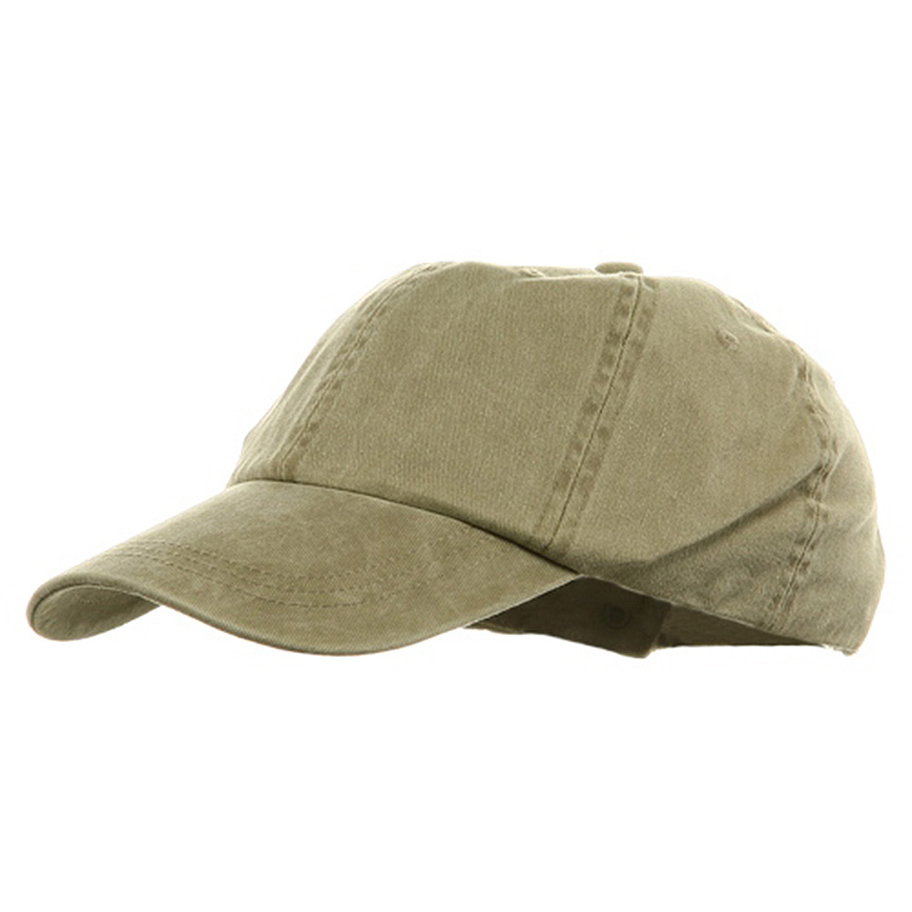 Youth Pigment Dyed Washed Cap - Khaki - Hats and Caps Online Shop - Hip Head Gear