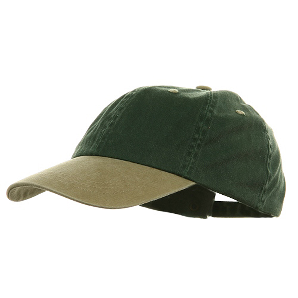 Youth Pigment Dyed Washed Cap - Spruce Khaki - Hats and Caps Online Shop - Hip Head Gear
