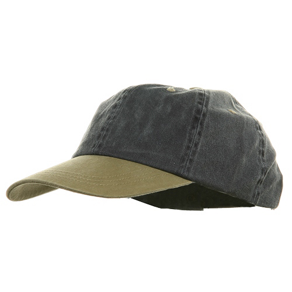 Youth Pigment Dyed Washed Cap - Navy Khaki - Hats and Caps Online Shop - Hip Head Gear