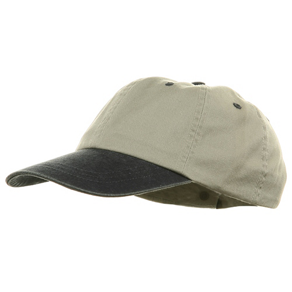 Youth Pigment Dyed Washed Cap - Beige Navy - Hats and Caps Online Shop - Hip Head Gear