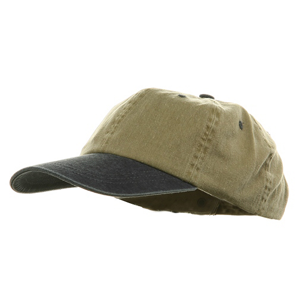 Youth Pigment Dyed Washed Cap - Khaki Navy - Hats and Caps Online Shop - Hip Head Gear