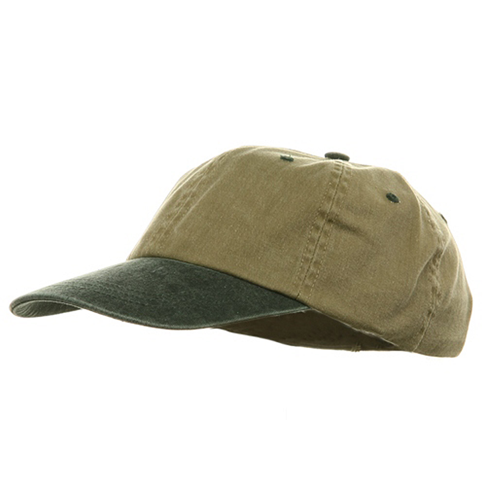 Youth Pigment Dyed Washed Cap - Khaki Dark Green - Hats and Caps Online Shop - Hip Head Gear