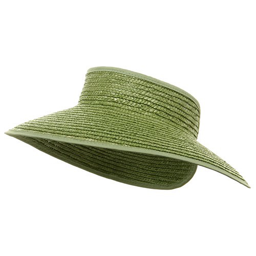 Braided Straw Wrap Visors-Lime - Hats and Caps Online Shop - Hip Head Gear