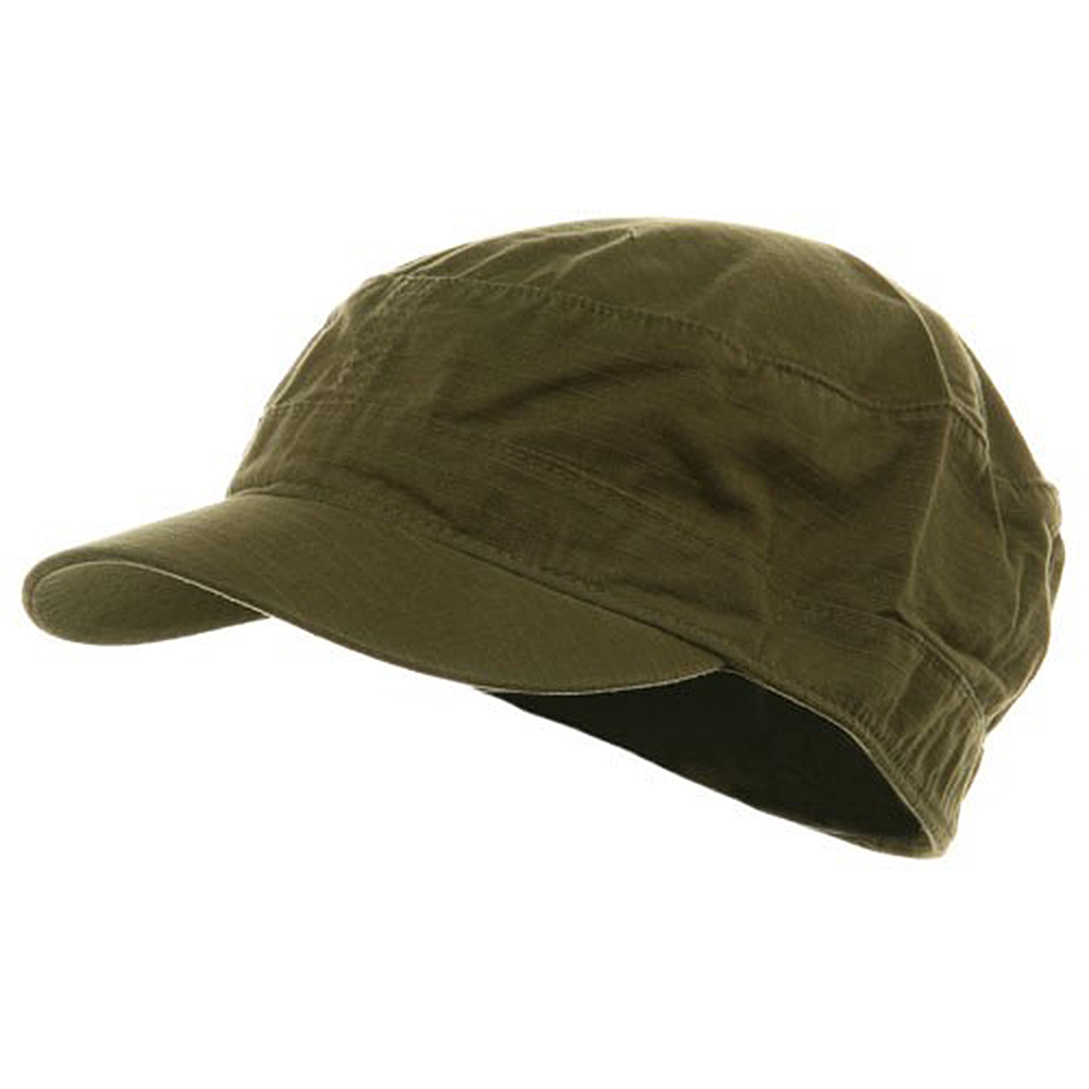 Fitted Cotton Ripstop Army Cap-Army Green - Hats and Caps Online Shop - Hip Head Gear