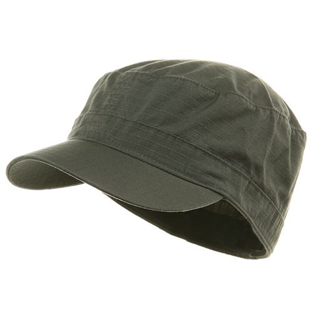 Fitted Cotton Ripstop Army Cap-Charcoal - Hats and Caps Online Shop - Hip Head Gear