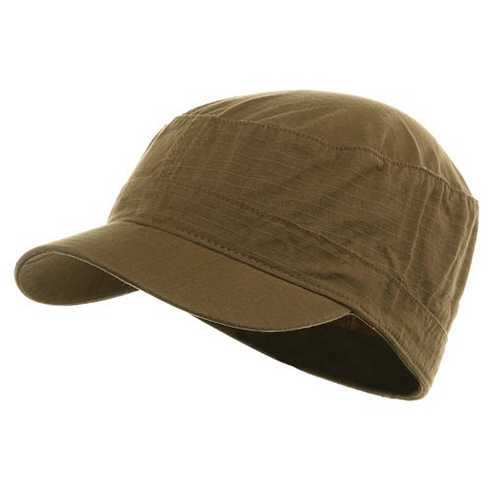 Fitted Cotton Ripstop Army Cap-Dk Khaki - Hats and Caps Online Shop - Hip Head Gear
