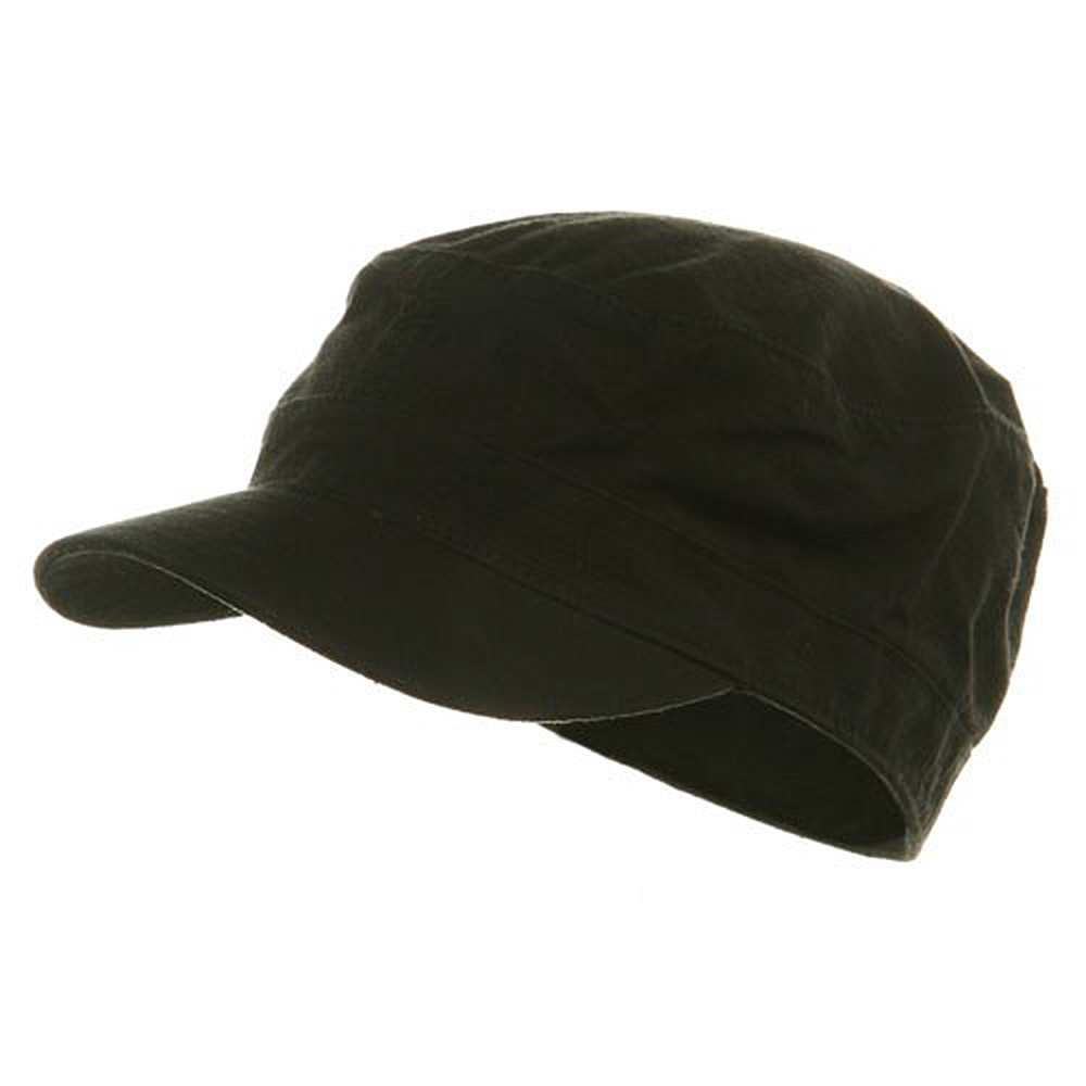 Fitted Cotton Ripstop Army Cap-Black - Hats and Caps Online Shop - Hip Head Gear