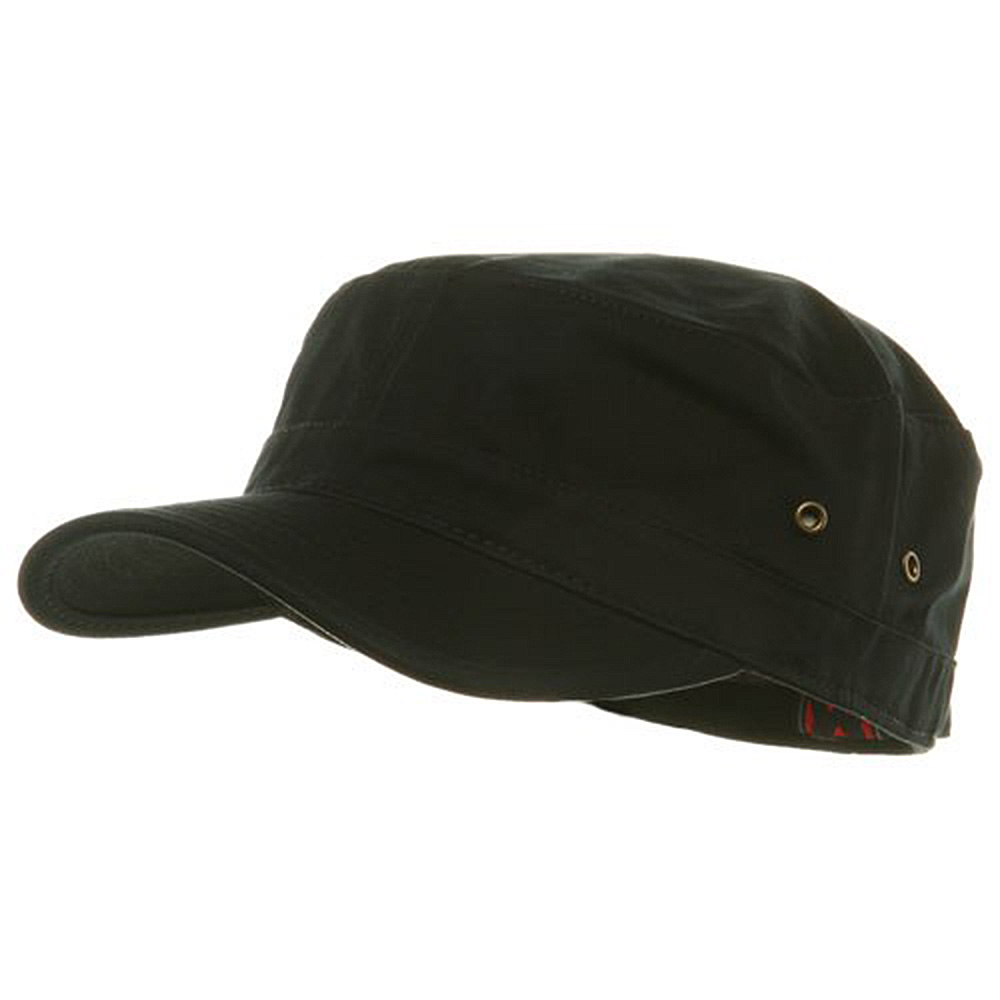 Trendy Military Fitted Cap- Black - Hats and Caps Online Shop - Hip Head Gear
