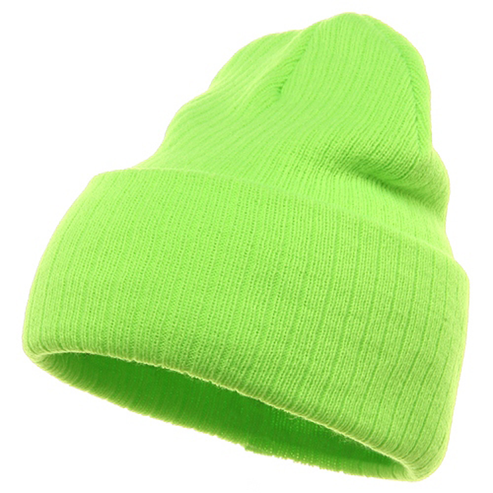 Acrylic Ribbed Cuff Beanie - Lime - Hats and Caps Online Shop - Hip Head Gear