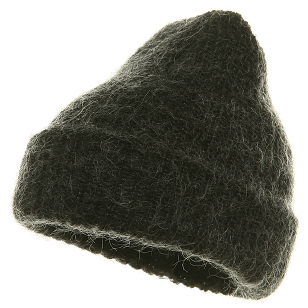 American Mohair Rib Cuff Beanie - Black - Hats and Caps Online Shop - Hip Head Gear