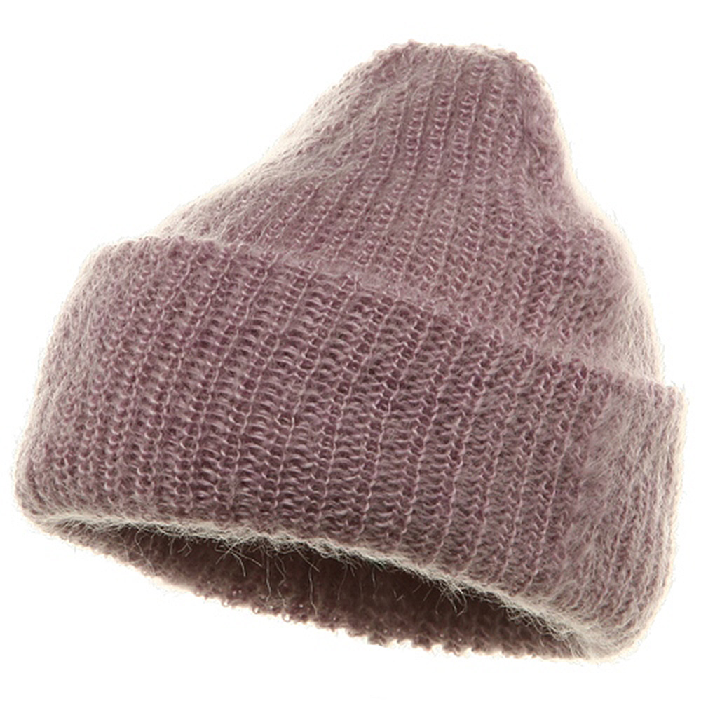 American Mohair Rib Cuff Beanie - Pink - Hats and Caps Online Shop - Hip Head Gear