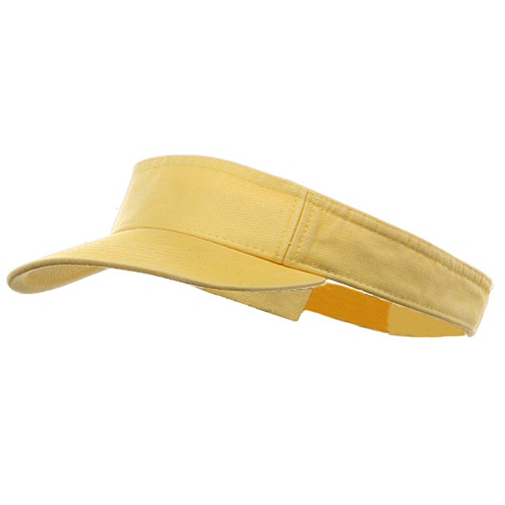 Youth Pro Style Cotton Visor - Lemon Yellow - Hats and Caps Online Shop - Hip Head Gear