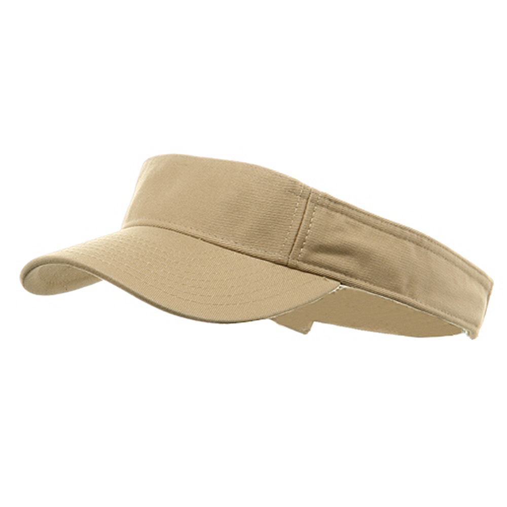 Youth Pro Style Cotton Visor - Khaki - Hats and Caps Online Shop - Hip Head Gear