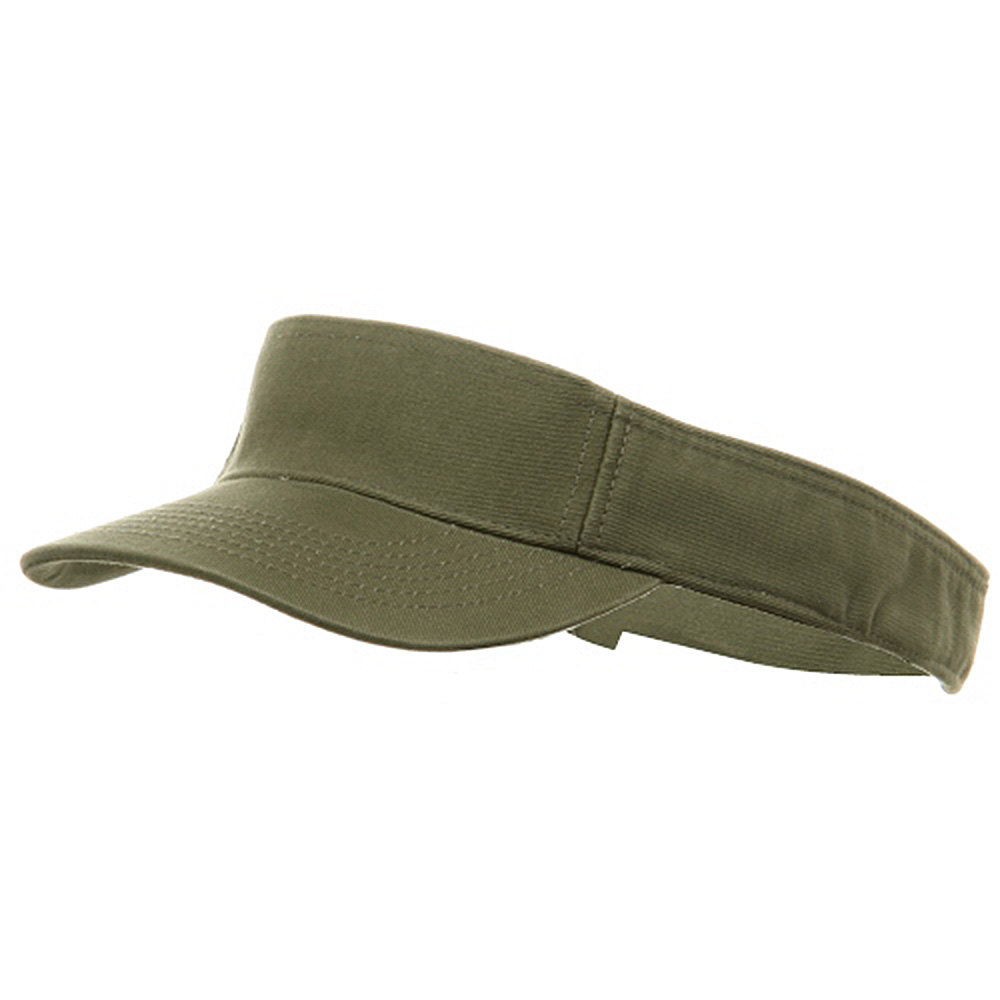 Youth Pro Style Cotton Visor - Olive - Hats and Caps Online Shop - Hip Head Gear