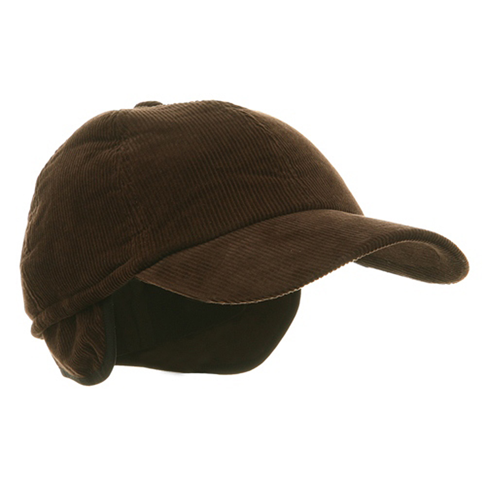 Men's Corduroy Winter Cap - Brown - Hats and Caps Online Shop - Hip Head Gear