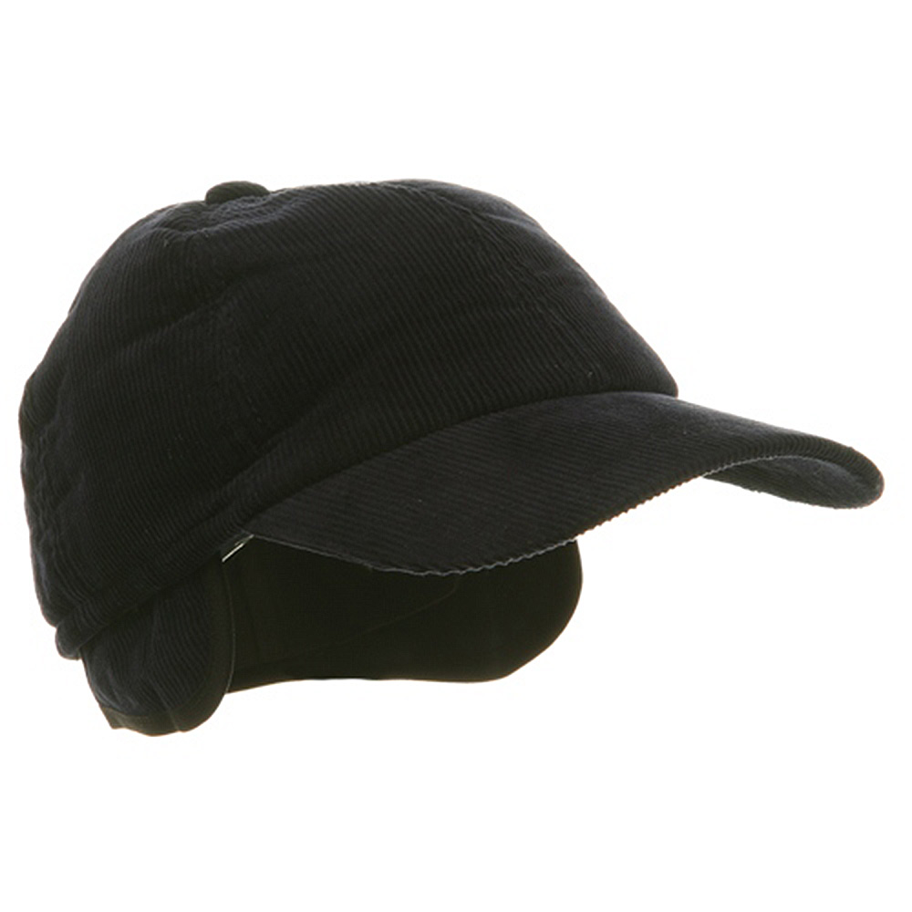 Men's Corduroy Winter Cap - Navy - Hats and Caps Online Shop - Hip Head Gear