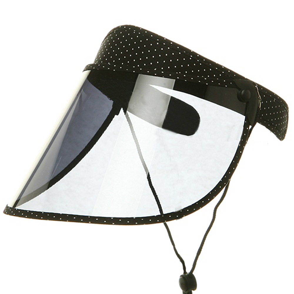 Large Dotted PVC Clip On - Black White Small Dot - Hats and Caps Online Shop - Hip Head Gear