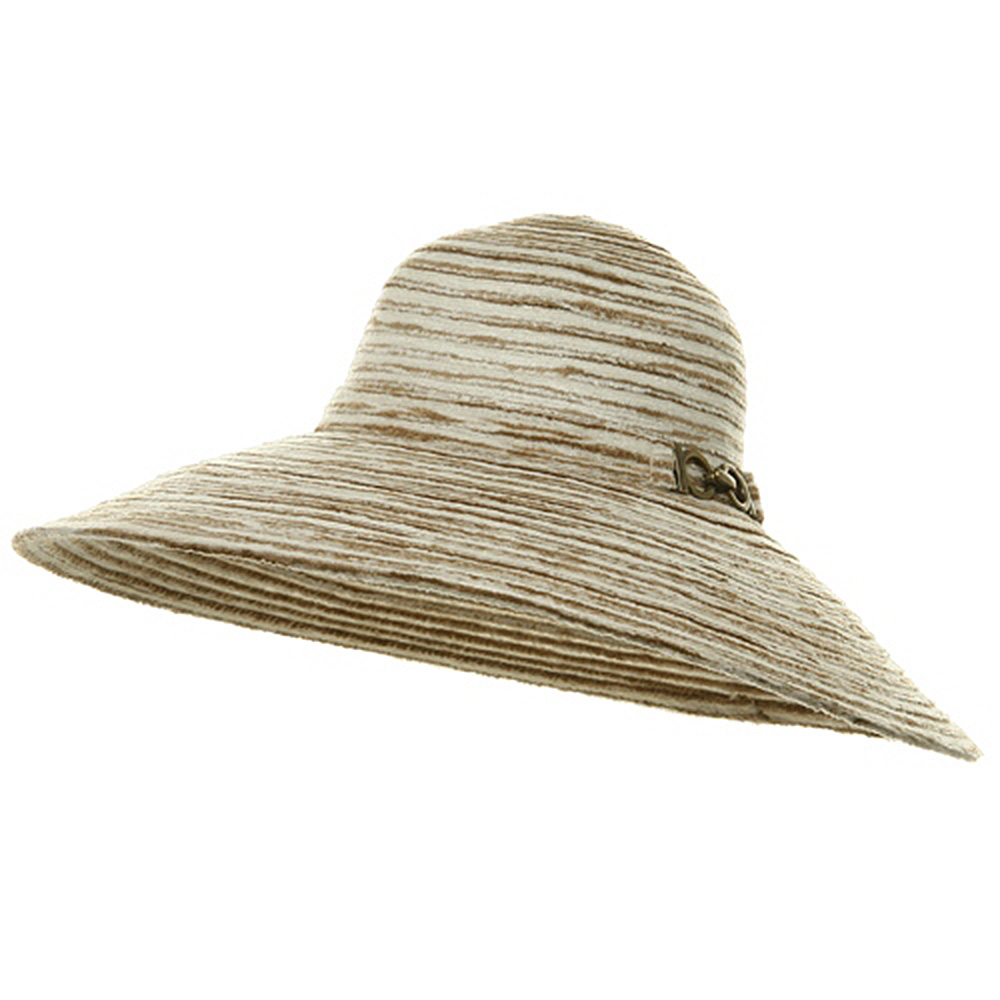 Knit Wide Brim Buckle Hat - Camel - Hats and Caps Online Shop - Hip Head Gear