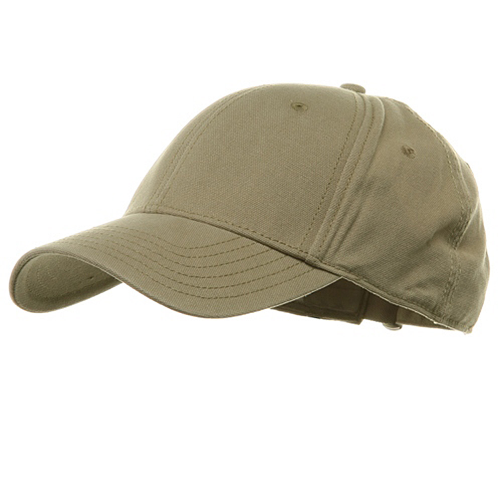 Brushed Cotton Canvas Cap-Khaki - Hats and Caps Online Shop - Hip Head Gear