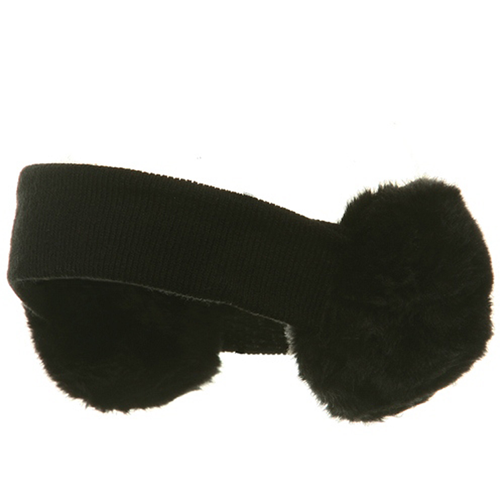 Ear Muff Headband-Solid Black - Hats and Caps Online Shop - Hip Head Gear