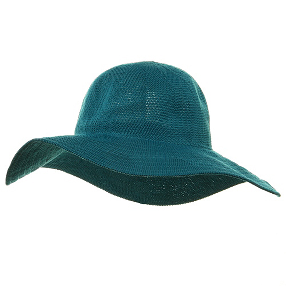 Knitted ML Wide Brim Hat - Turquoise - Hats and Caps Online Shop - Hip Head Gear