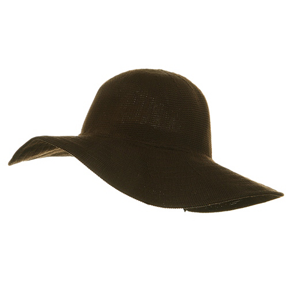 Knitted ML Wide Brim Hat - Brown - Hats and Caps Online Shop - Hip Head Gear