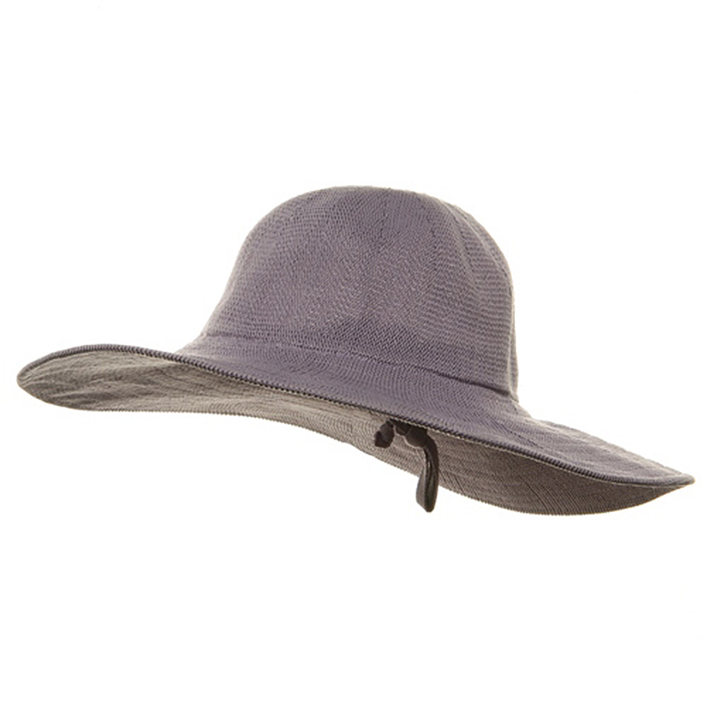 Knitted ML Wide Brim Hat - Purple - Hats and Caps Online Shop - Hip Head Gear