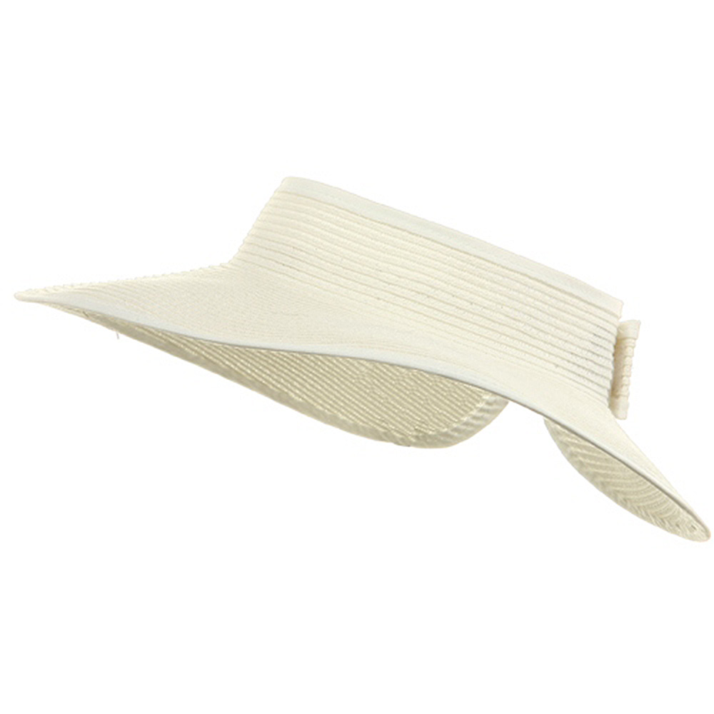 Poly Braid 4 Inch Brim Visor - White