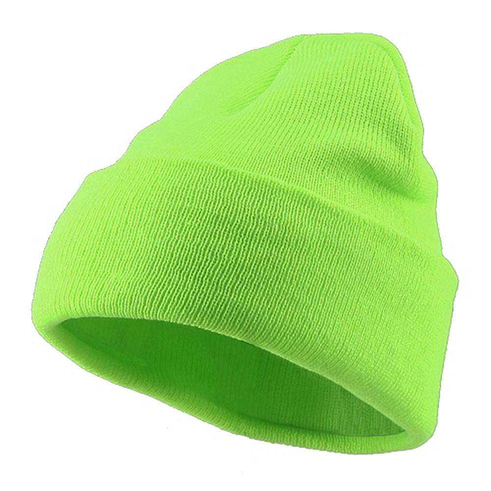Classic Safety Cuff Beanie - Fluorescent Green - Hats and Caps Online Shop - Hip Head Gear